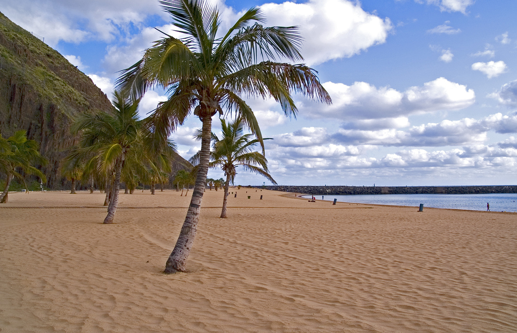 Beach-in-January-and-February-on-Canary-Islands