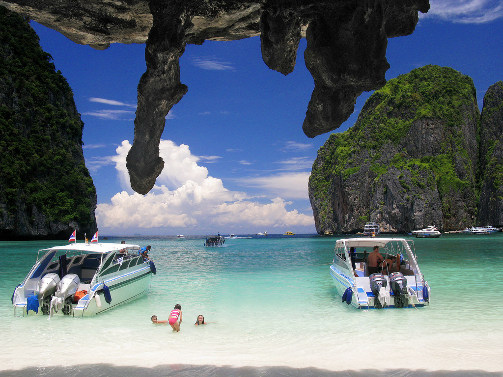 Maya Beach, Koh Phi Phi Leh Island, Krabi, Thailand, Asia