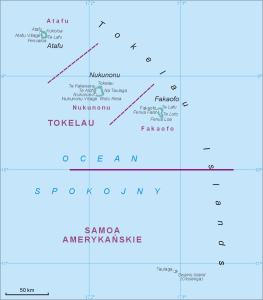 Tokelau New Zealand Tourist Destinations - Tokelau map