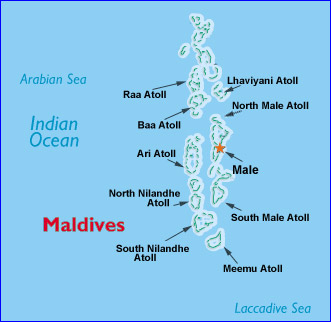 Maldive Islands Map
