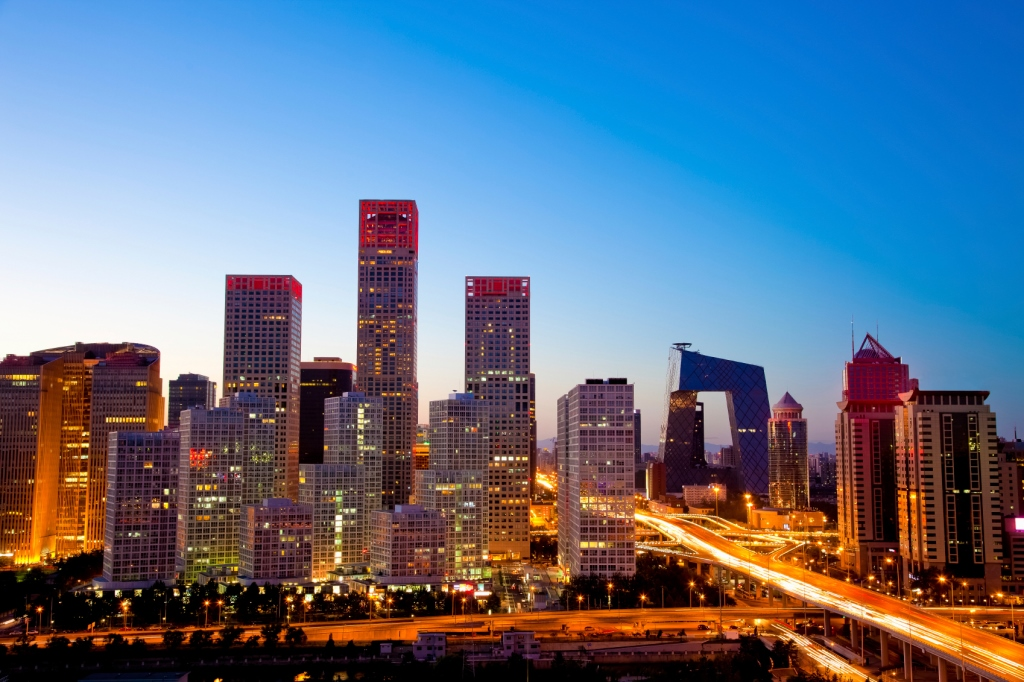 Beijing-Central-Business-District,-mix-of-offices-and-apartments-china-asia-pacific