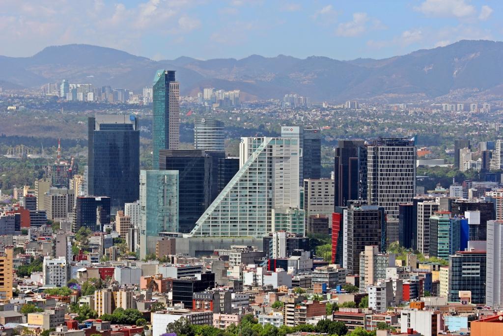Ciudad.de.Mexico.City.Distrito.Federal.DF.Paseo.Reforma.Skyline