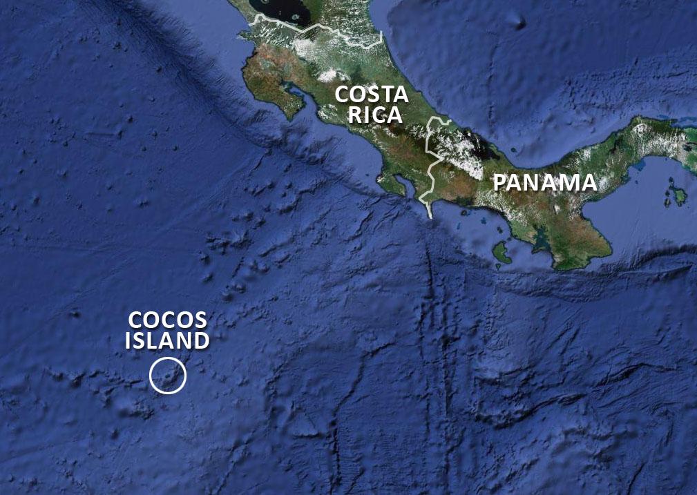 Cocos Island Map