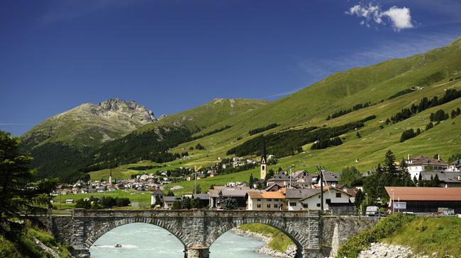 St. Moritz: Bruecke des Dorfes S-chanf