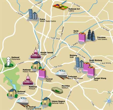 Kuala Lumpur Map