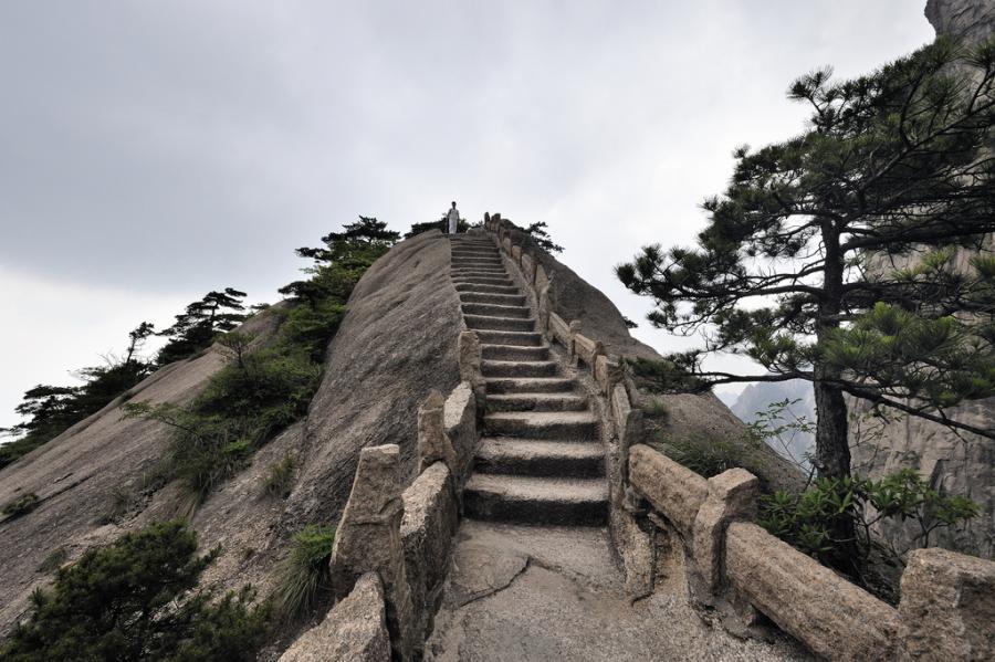 China Yellow Mountain walkway