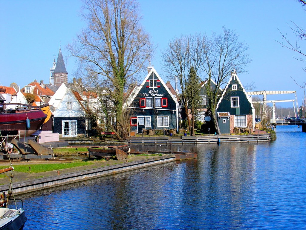 Netherlands Edam Hotel de Fortuna and Canal View