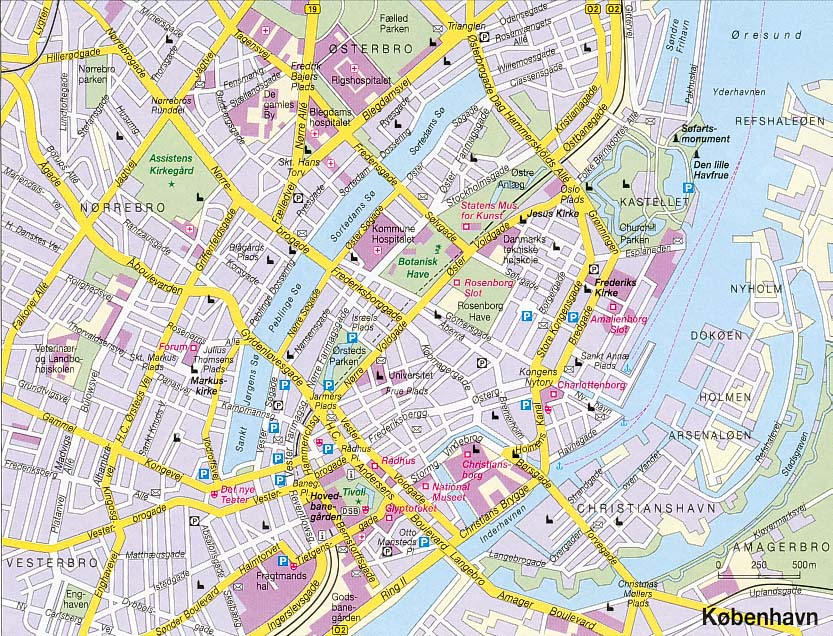 Copenhagen Denmark Tourist Destinations – Tourist Map Of Copenhagen