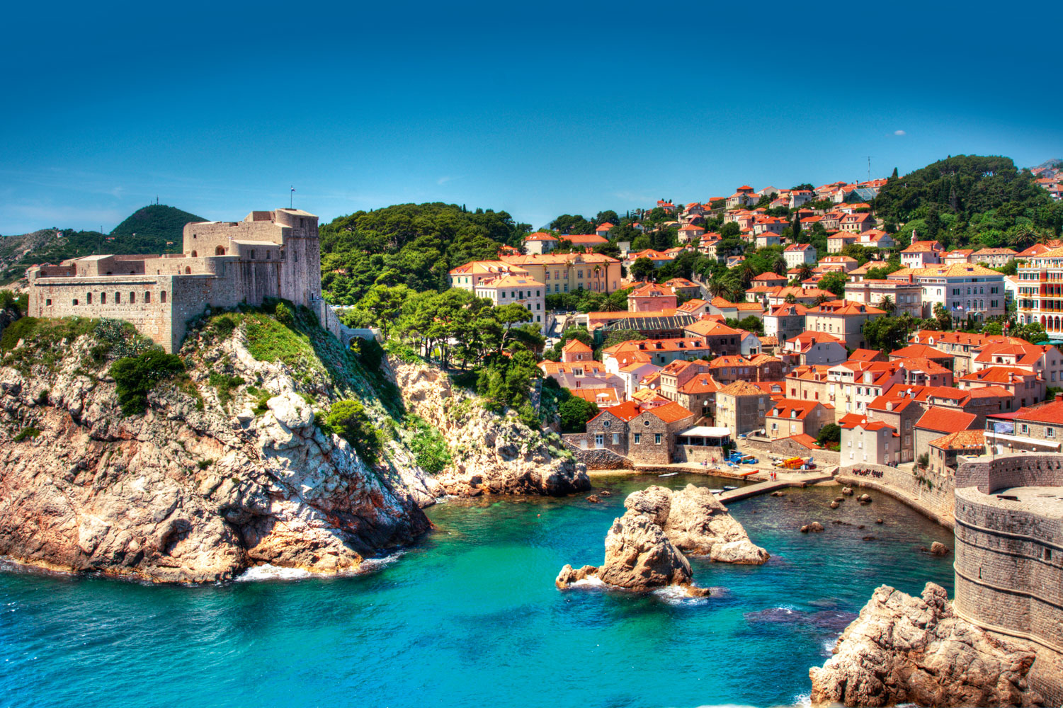 Dubrovnik croatia tourist destinations for Places to go on vacations