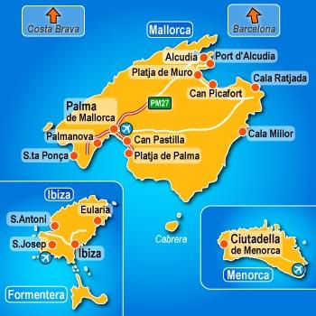 Majorca Island Map