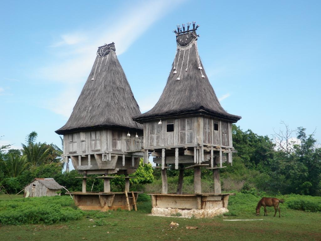4770349-Dong_Son_style_houses_Tutuala_East_Timor