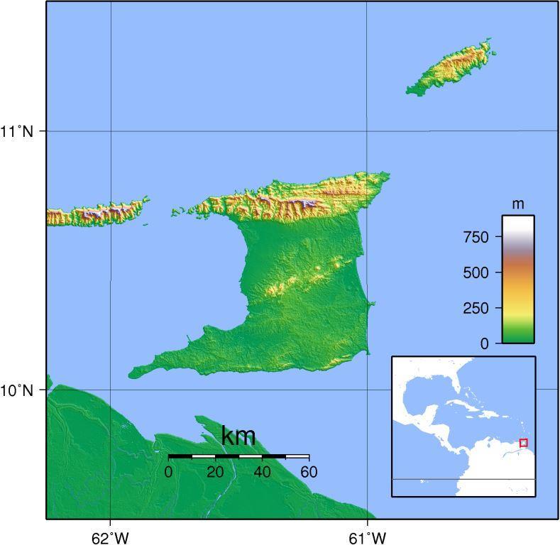 Trinidad_Topography