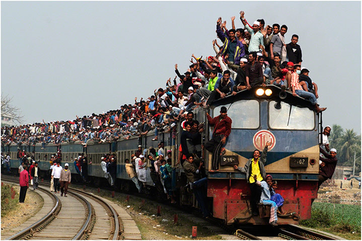 Train in Tongi, Bangladesh