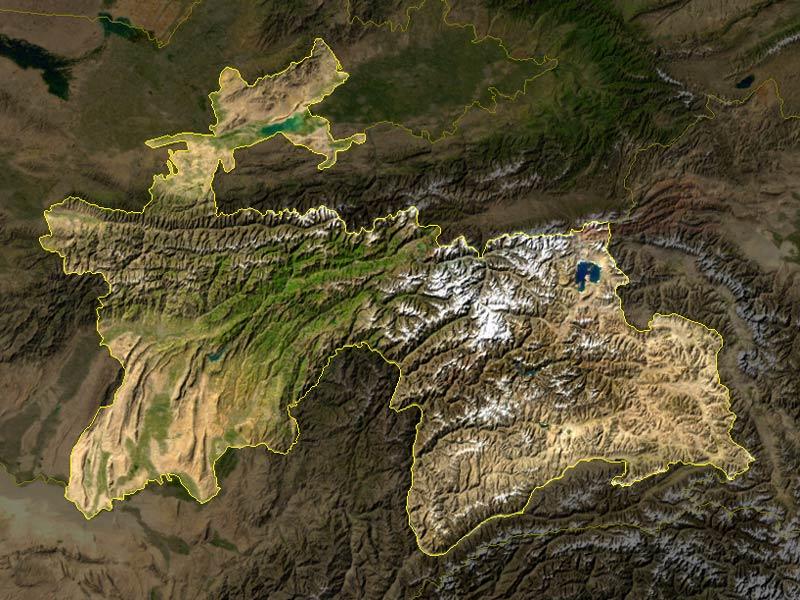 Tajikistan_satellite_photo