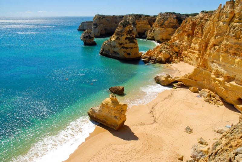 Playa-en-Algarve-Portugal