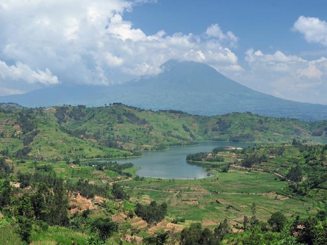 RwandaVolcanoAndLake