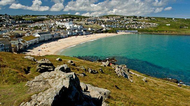 Porthmeor beach St Ives Cornwall England
