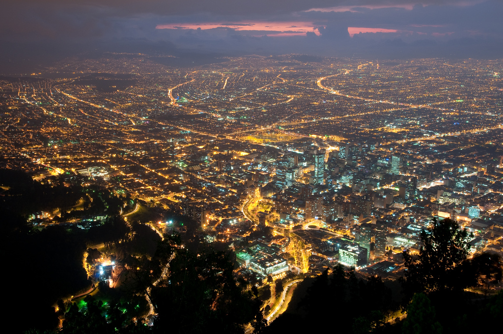 Bogota-Colombia-at-night