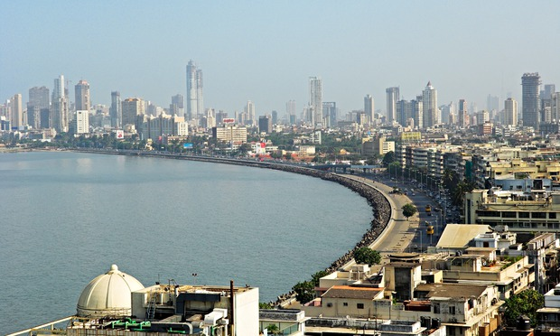 Guardian Cities: Skyline of Mumbai and Marine Drive known as the Queen s Necklace India