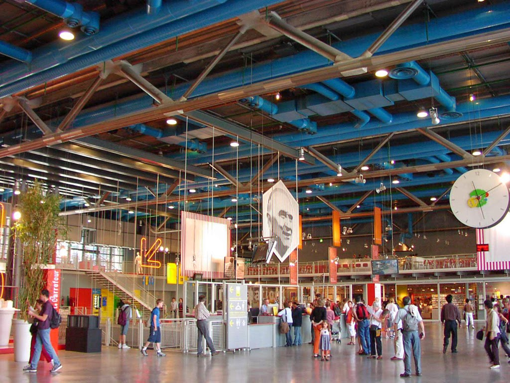 Centre pompidou paris france tourist destinations for Architecture interieur paris