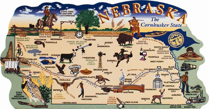 Nebraska USA Tourist Destinations – Tourist Attractions Map In Nebraska
