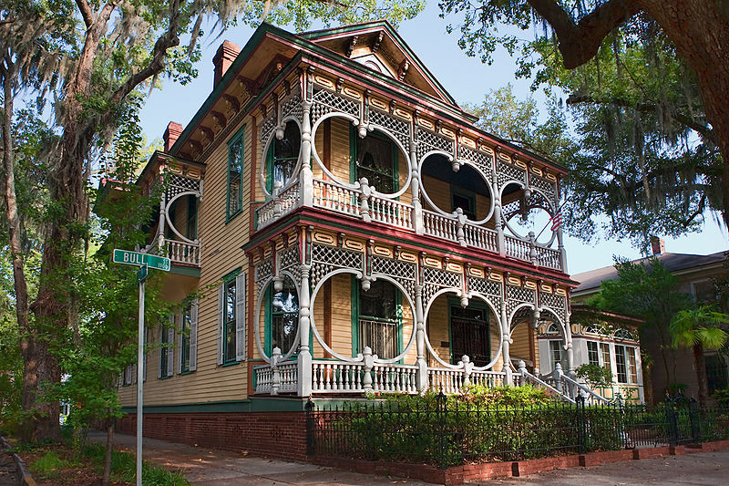 Savannah georgia tourist destinations for Victorian colonial homes