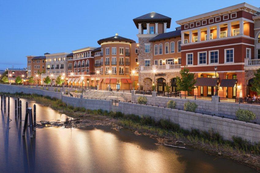 Napa River Front Shopping and River Walk - Napa Valley