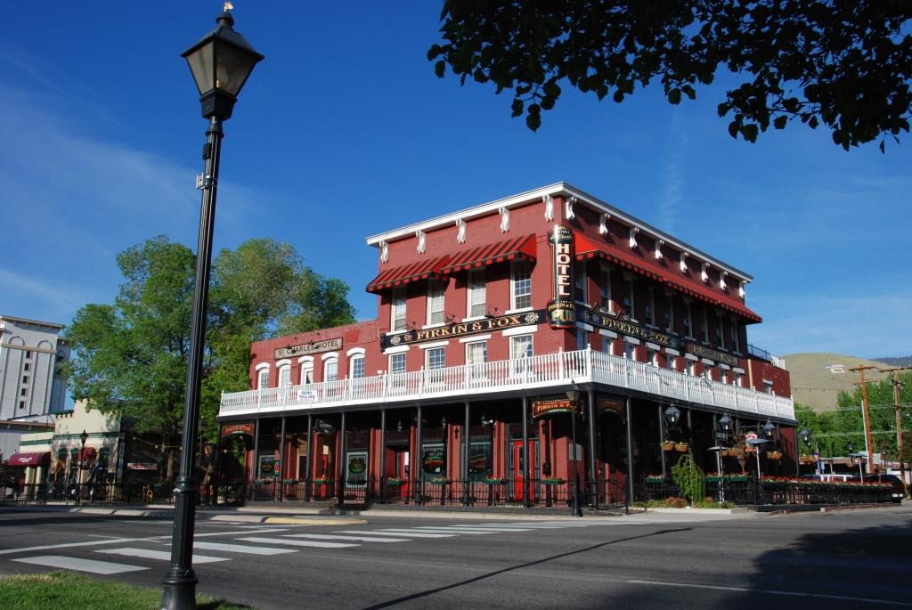 The St. Charles Hotel, built 1862 at 310 South Carson Street, is one of the oldest continuously operating hotels in Nevada.