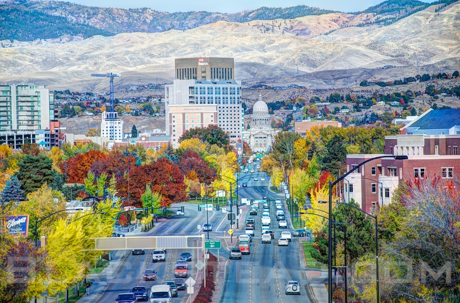 Beautiful Fall colors in Boise Idaho.  Beautiful Fall colors in Boise Idaho.