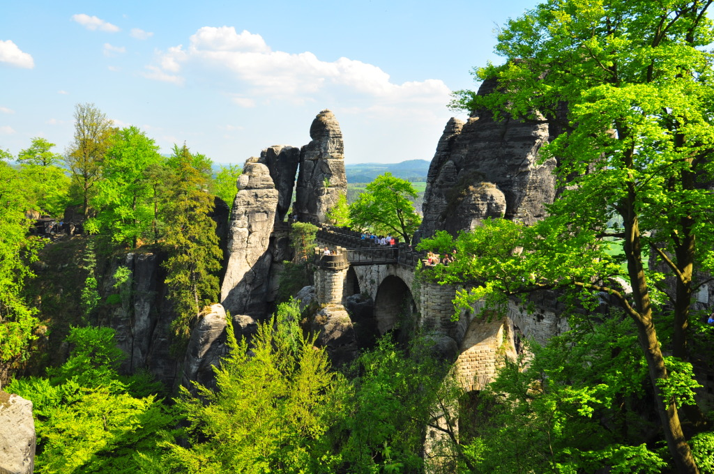The-Bastei-Bridge-in-Saxony-Switzerland