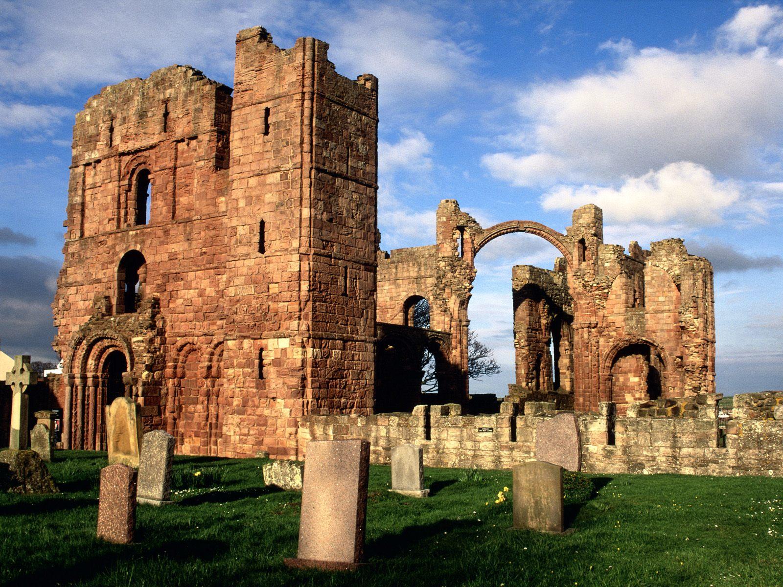 Bamburgh Castle, Northumberland, at dawn.