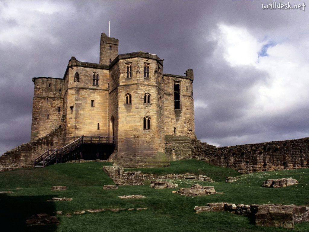 Warkworth Castle Northumberland England